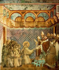 350px-Giotto_-_Legend_of_St_Francis_-_-07-_-_Confirmation_of_the_Rule
